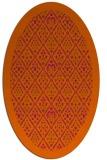 rug #1283367 | oval red-orange damask rug