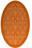 rug #1283371 | oval red-orange damask rug