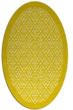 rug #1283379 | oval white damask rug