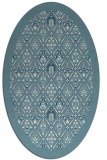 rug #1283395 | oval white traditional rug