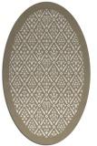 rug #1283399 | oval white borders rug