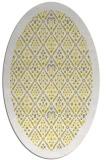 rug #1283411 | oval white borders rug