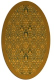 rug #1283415 | oval light-orange damask rug