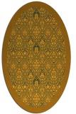 rug #1283415 | oval light-orange borders rug