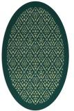 rug #1283419 | oval yellow traditional rug