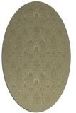 rug #1283427 | oval light-green rug