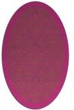 rug #1283431 | oval pink popular rug
