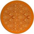 rug #1283819 | round orange damask rug