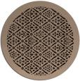 rug #1283831 | round beige borders rug
