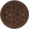 rug #1283835 | round brown damask rug