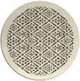 rug #1283843 | round black borders rug
