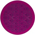 rug #1283855 | round pink traditional rug