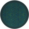 rug #1283883 | round blue traditional rug