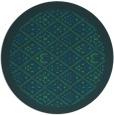 rug #1283883 | round blue rug