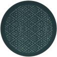 rug #1283891   round blue-green borders rug