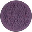 rug #1283915   round purple damask rug