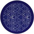 rug #1283919 | round blue-violet rug