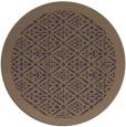 rug #1283923   round beige damask rug