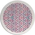 rug #1283935   round red damask rug