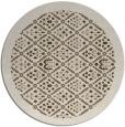 rug #1283979 | round beige borders rug