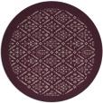 rug #1283987 | round pink borders rug