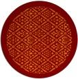 rug #1284031 | round orange damask rug