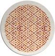 rug #1284035 | round orange borders rug