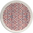 rug #1284079 | round red traditional rug