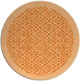 rug #1284099 | round red-orange borders rug