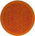 rug #1284103 | round red-orange borders rug
