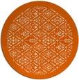 rug #1284107 | round red-orange borders rug