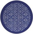 rug #1284119 | round blue traditional rug