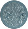 rug #1284131   round blue-green borders rug