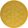 rug #1284139 | round yellow traditional rug