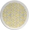 rug #1284147 | round yellow borders rug