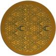 rug #1284151 | round yellow borders rug