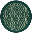 rug #1284155 | round yellow traditional rug