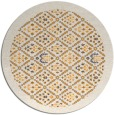 rug #1284183 | round light-orange damask rug