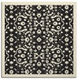 rug #1284579 | square black damask rug