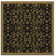 rug #1284583 | square mid-brown borders rug