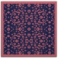rug #1284647 | square blue-violet damask rug