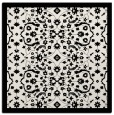 rug #1284703 | square black damask rug
