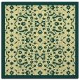 rug #1284891 | square yellow damask rug