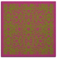 rug #1284903 | square light-green damask rug
