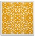 rug #1284911 | square light-orange damask rug