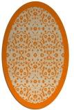 rug #1284923   oval orange damask rug