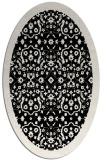 rug #1284927 | oval white borders rug