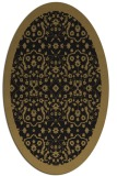 rug #1284951 | oval brown damask rug