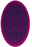 rug #1284959 | oval blue damask rug