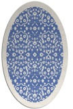 rug #1284971 | oval blue borders rug